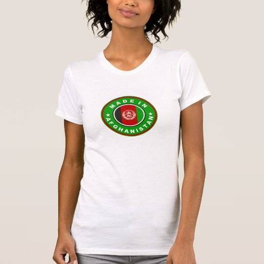 made in afghanistan country flag label T-Shirt