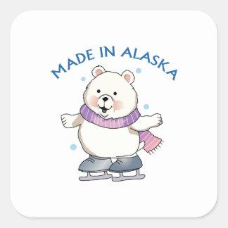 Made In Alaska Square Sticker