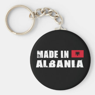 Made in Albania Basic Round Button Keychain