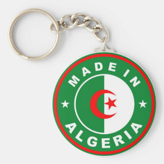 made in algeria country flag label keychain