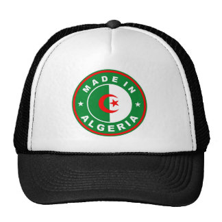 made in algeria country flag label trucker hat