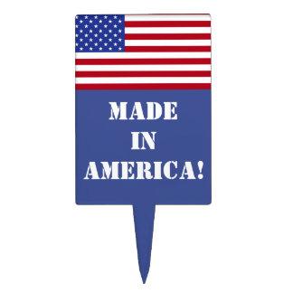 Made in AMERICA!-American Flag Cake Topper