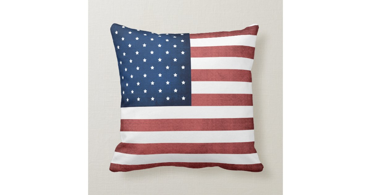 Throw Pillow Made In Usa : Made In America American Flag Throw Pillow Zazzle
