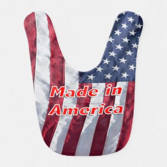 Made in America Baby's bib