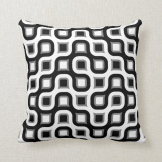 Made In America Black Gray And White Throw Pillow