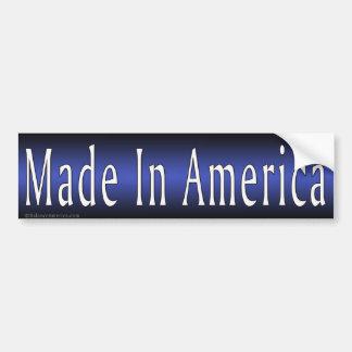 Made In America Blue Bumper Sticker Car Bumper Sticker