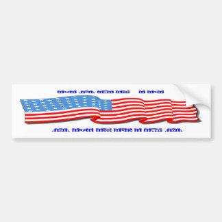 Made in America Car Bumper Sticker