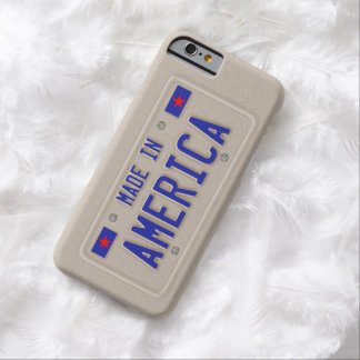 Made In America Car Licence Plate Barely There iPhone 6 Case