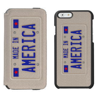 Made In America Car Licence Plate iPhone 6/6s Wallet Case