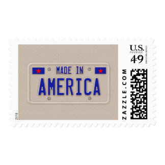 Made In America Car Licence Plate Stamp