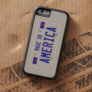 Made In America Car Licence Plate Tough Xtreme iPhone 6 Case