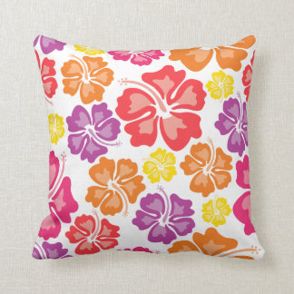 Made In America Colorful Floral Throw Pillow