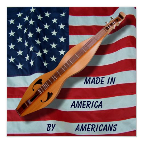 Made in America Dulcimer Poster