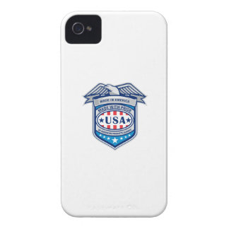 Made In America Eagle Patriotic Shield Retro Case-Mate iPhone 4 Case