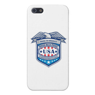 Made In America Eagle Patriotic Shield Retro Cover For iPhone SE/5/5s