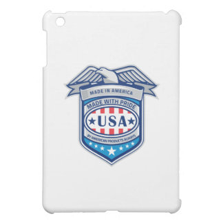 Made In America Eagle Patriotic Shield Retro iPad Mini Cases