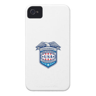 Made In America Eagle Patriotic Shield Retro iPhone 4 Cover