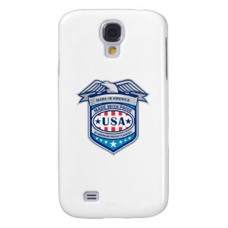 Made In America Eagle Patriotic Shield Retro Samsung Galaxy S4 Cover