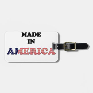 MADE IN AMERICA FLAG BAG TAG