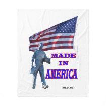 Made in America Fleece Blanket Vertical