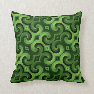 Made In America Green Pattern Throw Pillow