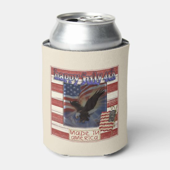 Made In America July 4th Beverage Can Cooler