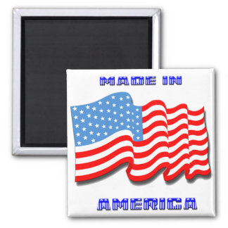 Made in America 2 Inch Square Magnet