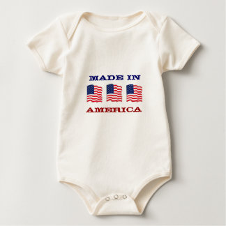 Made in America Patriotic American Baby Baby Creeper
