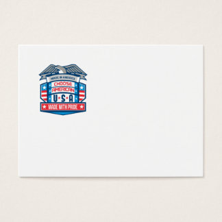 Made In America Patriotic Shield Retro Business Card