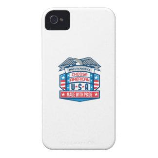 Made In America Patriotic Shield Retro Case-Mate iPhone 4 Case