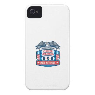 Made In America Patriotic Shield Retro iPhone 4 Case