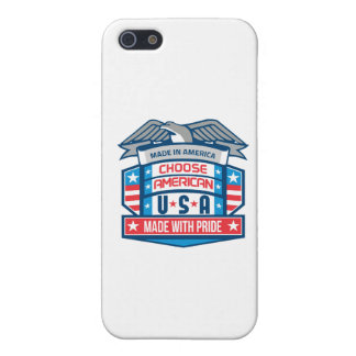 Made In America Patriotic Shield Retro iPhone SE/5/5s Case