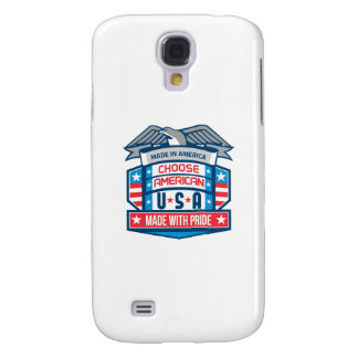 Made In America Patriotic Shield Retro Samsung Galaxy S4 Case