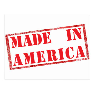 Made in America! Postcard