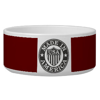 Made in America Red Background Pet Bowl