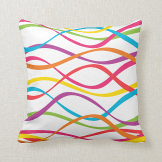 Made In America Sound Waves Throw Pillow