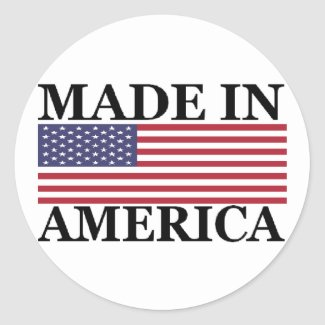 MADE IN AMERICA STICKERS