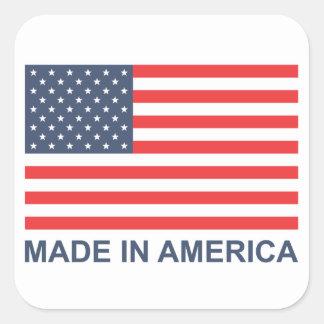 Made In America Square Sticker