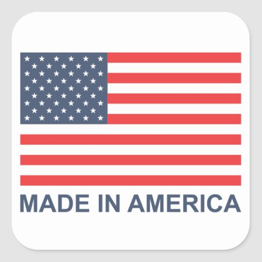 Made In America Square Stickers