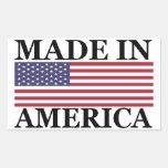 MADE IN AMERICA Sticker Rectangular Sticker