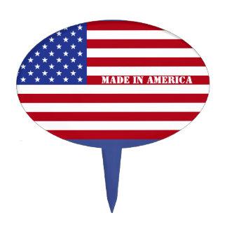 Made in America-U.S.A. Flag Cake Topper