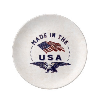 Made in America Vintage USA Plate