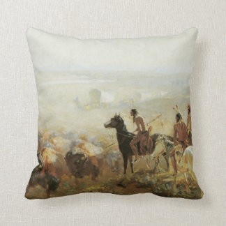 Made In America Vintage Western Throw Pillow