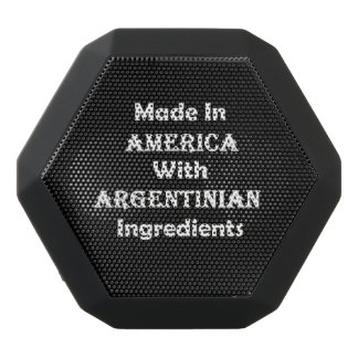 Made In America With Argentinian Ingredients Black Bluetooth Speaker