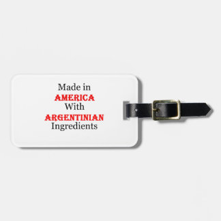 Made In America With Argentinian Ingredients Tags For Bags