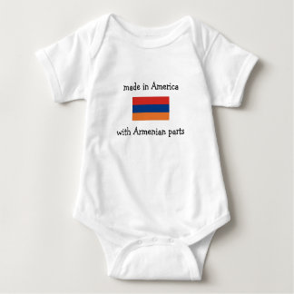 made in America with Armenian parts Baby Bodysuit