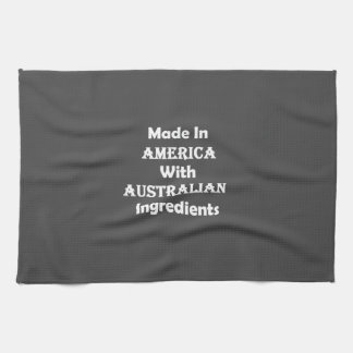 Made In America With Australian Ingredients Hand Towel