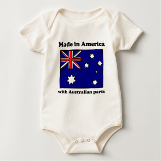 Made In America With Australian Parts Baby Bodysuit