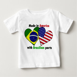made in america with brazilin parts baby T-Shirt