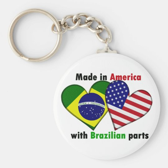 made in america with brazilin parts keychain